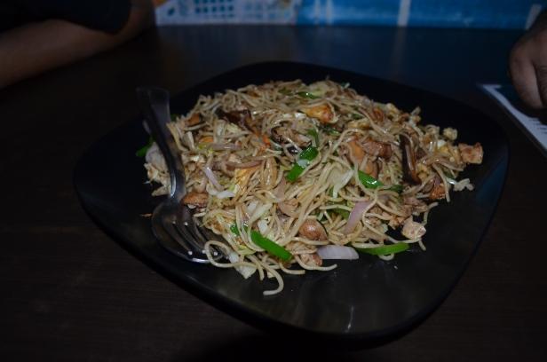 Cantonese pork sausage noodles