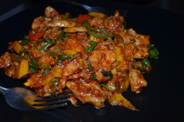 Stir fried pork