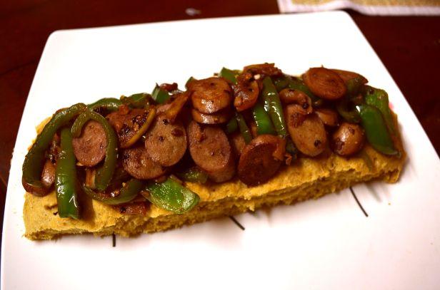 The apple and sausage diet bruschetta