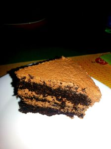 Awesome layered chocolate cake baked by Sayantani