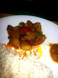 Pork Bhuni on my plate