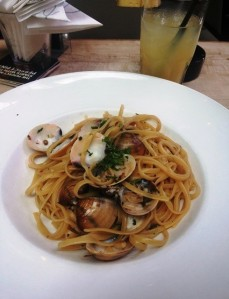 Clam Linguine at Michelangelo's, also in Palladium