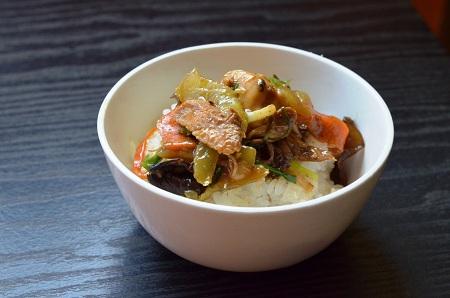 Oriental Chicken Cucumber Stir Fry