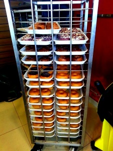 Fresh warm donuts @ Krispy Kreme