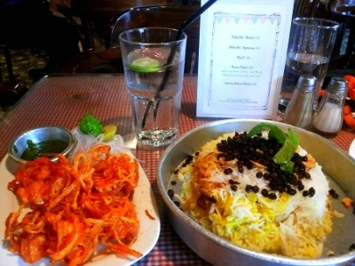 Prawn patio and Berry Pulao @ Sodabottleopenerwala