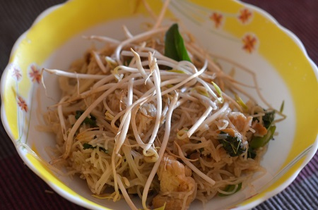 Thai chilly basil rice noodles