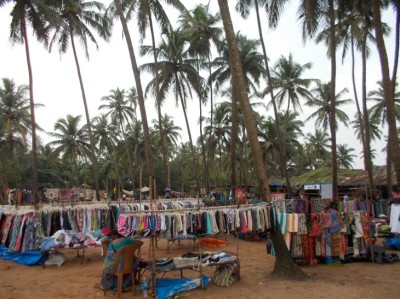 Anjuna flea market, all about colours