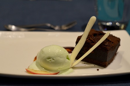 Balinese Chocolate Cake with wasabi icecream