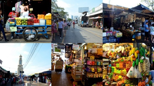 Real fruit, fake fruit, dedicated loofa stores at Chatuchak