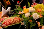Vegetable carvings at Matsuri stand