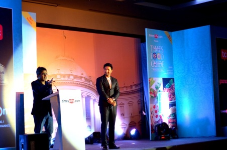Mir and Dev at Times Food Awards Kolkata 2015