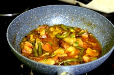 Lemony Smoked Pork Curry