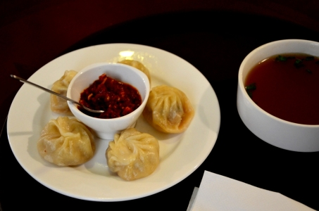 Juicy buttery pork momos at Hotel Norbuling