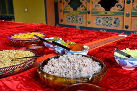 A Bhutanese meal