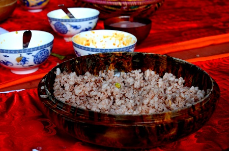 The Bhutanese staple Red rice