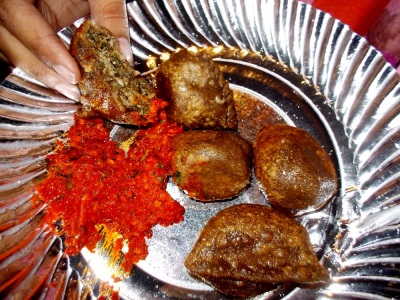 Panfried beef-stuffed Buckwheat dumplings (Hentey) indigenous to Haa valley